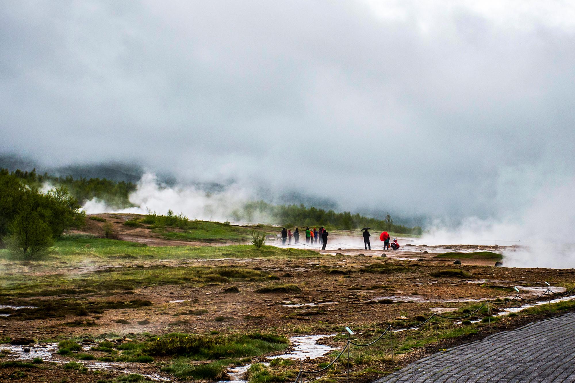 The Great Geysir Strokkur in Iceland hot fog geology 2