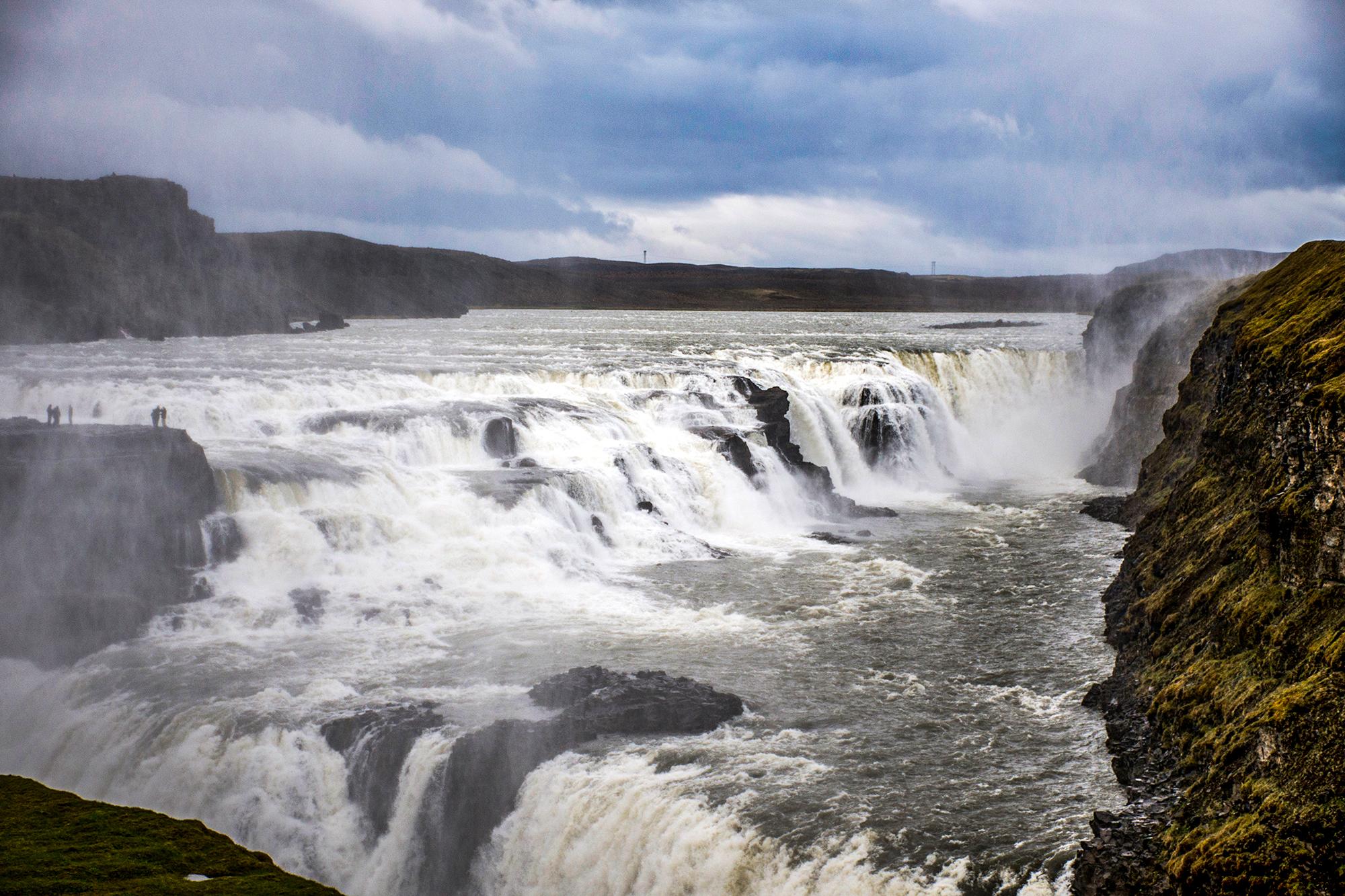 The big Beautiful Gullfoss waterfall in Iceland 3